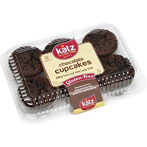 (Katz Gluten Free Chocolate Cupcakes | Dairy, Nut, Soy and Gluten Free | Kosher (1 Pack of 6 Cupcakes, 12.5 Ounce))