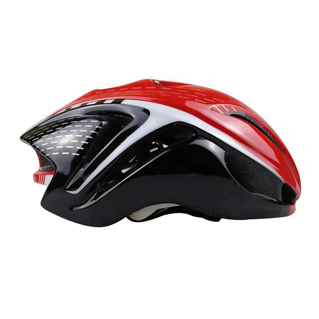 大人用ヘルメット一体型成型ユニセックス3Dライディング山自動車内蔵型車用ヘルメットヘルメット、頭囲57-62cmカラーに適しています (色 : Red black, UnitCount : 5) B07KS1YH75 5|Red black Red black 5