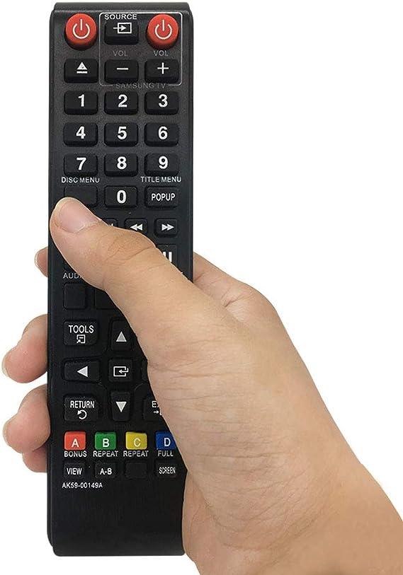 Samsung AK59-00149A - Mando a distancia para Samsung DVD BD Samsung BLU-RAY BD-E5200 BD-E5300 BD-E5500 BD-F5100 BD-F5500 BD-H5500 BD-H5900 BD-J4500 BD- J5500 BD-J5700 y Samsung: Amazon.es: Electrónica