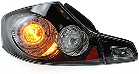 FITS INFINITI G37 SEDAN 2009-2013 BLACK TAILLIGHTS TAIL LIGHTS REAR LAMPS SET