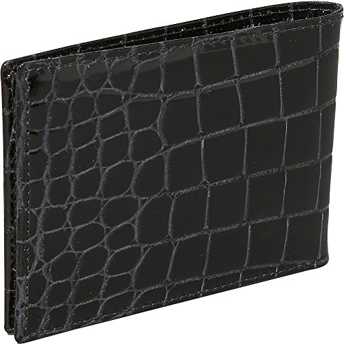 Budd Budd Leather Bidente Leather Crocodile Wallet European Brown Slim qwaxp