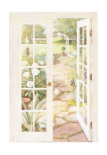 York Wallcoverings RV2666M French Doors Into Garden, Mural by York Wallcoverings