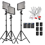 Aputure Amaran AL-528Kit(AL-528C + AL-528W + AL-528S) 528 LED Video Light Panel Video Lighting Kit with Pergear Clean Kit