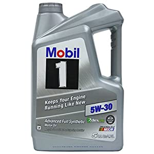Mobil 1 120764 Synthetic Motor Oil 5W-30, 5 Quart