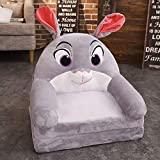 Chair Children's Sofa, Lightweight Foldable Washable Short Plush Fabric Can Sit And Lie Down 3D PP Cotton Padding Suitable For Children's Room/living Room (color : F)