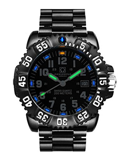 Gosasa Tritium Luminous Mens Watches Ronda Quartz Waterproof 200m Deep Sea Dive Military Sports Watch
