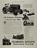 1929 Ad McCormick Deering Industrial Tractor Crawlers - Original Print Ad
