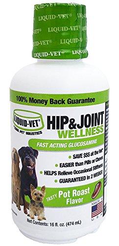 Liquid-Vet by COOL PET Holistics LVDJW-PR-04PK-16U Hip & Joint Dog Joint Supplement, 16 oz ()