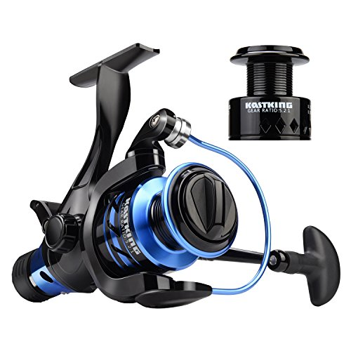 KastKing Pontus Baitfeeder Spinning Reel,with Spare Spool,Size 5000 (Fishing Spinning Spool Reel)