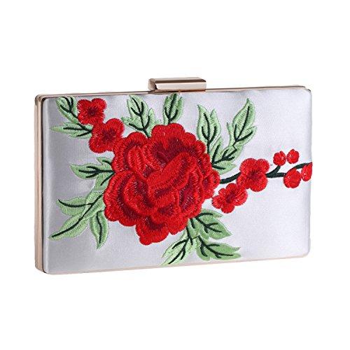 Wallets Clutch White Banquet Bag Dress Evening Rose bag Flash Embroidery TPUTpx