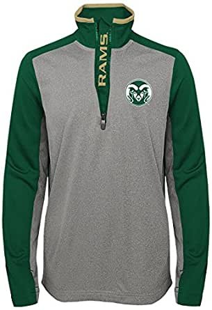 Outerstuff Boys NCAA Youth Boys Matrix 1/4 Zip Top, Light Charcoal, Youth Small (6-8)