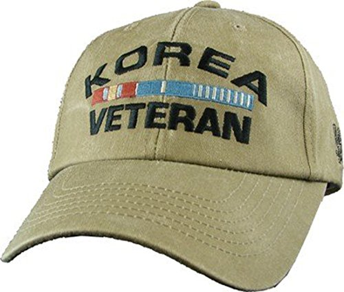 US Korea WAR Veteran Logo Embroidered Hat - Adjustable Buckle Closure Cap