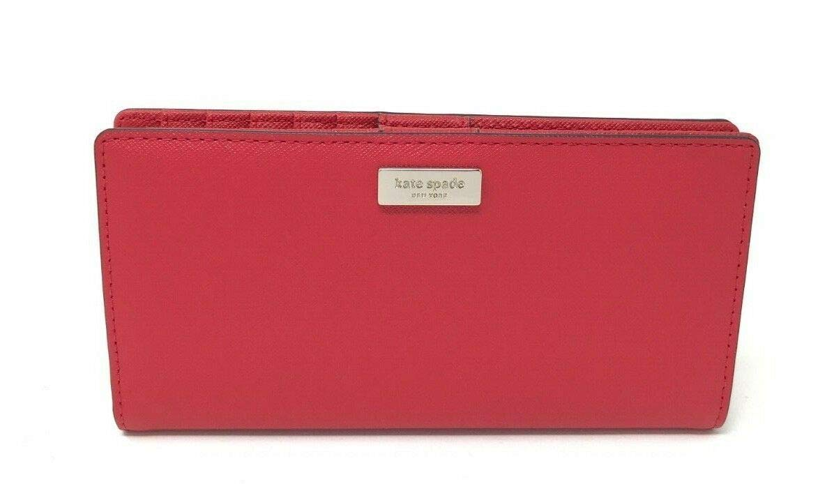 Kate Spade New York Laurel Way Stacy Leather Wallet (Hot Chili Red)