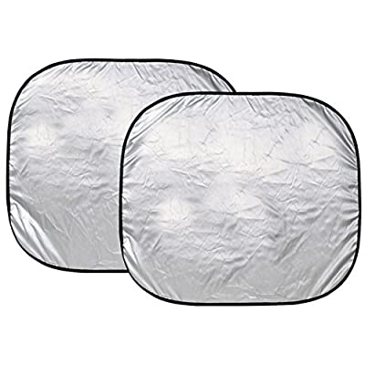 Custom Accessories 17951 28 1/2-Inch x 31 1/2-Inch Nylon Loop Solar Shield Sunshade, 2 Piece: Automotive