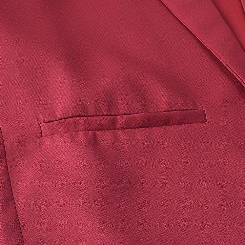 Colore Allentata Da Autunno L Rosso Casual Camicetta Camicia Primavera Nero Donna Dimensioni 40cUqnFwa
