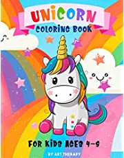 Unicorn Coloring Book: For Kids Ages 4-8: Magical Unicorns with Beautiful Princess (Creative Learning)