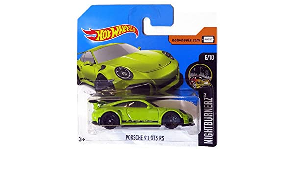 2017 Hot Wheels Nightburnerz Porsche 911 GT3 RS Green 117/365 (Short Card) ...: Amazon.es: Juguetes y juegos