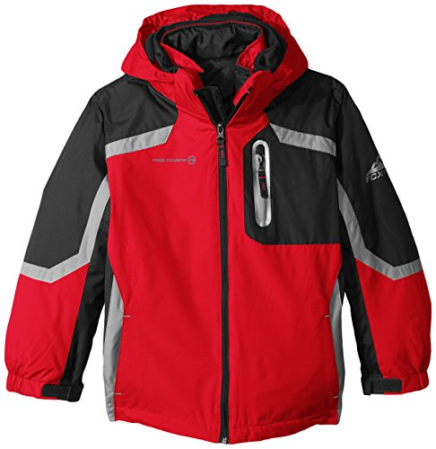 Boys' Little Systems Jacket Puffer Free Country Racer Red Coat with gEqxOFn