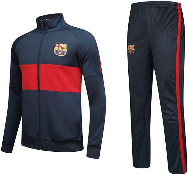 Zwei St/ück Einstellen Jacke//A//XXXL xiaoxian Unisex Radfahren Uniform Barcelona-Fc Ausbildung Passen Rei/ßverschluss Jacke Erwachsene Und Kinder Sweatshirt