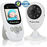 "Video Baby Monitor by Smart Baby - Wireless Baby Monitor with 2.4"" Color Screen and Night Vision Capabilities - Baby Camera Features Built-In Nightlight, Rechargeable Battery and Temperature Detection"