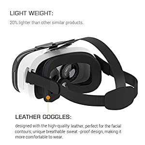 Pasonomi 3D VR Glasses Virtual Reality Headset for iPhone & Android Smartphone by Meilianfa