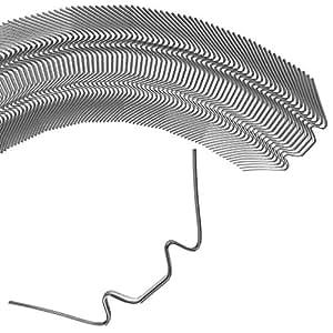 Deuba Invernadero grapas 100unidades & # x2714; fop de Set & # x2714; hasta 6mm & # x2714; fijación de placas huecas (HKP-100) y pulidoras de cristal de seguridad templado de ()