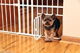 Mini Metal Expandable Pet Door Gate Safety Baby Toddler Dog Cat Small