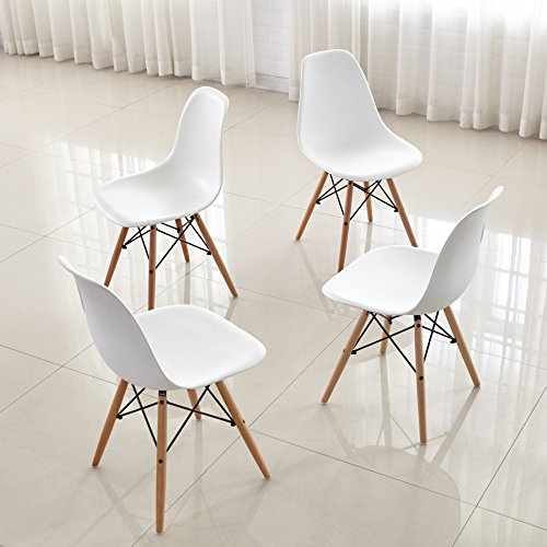 Cheap  Dining Chairs FurnitureR Set of 4 Dinning Chairs Eames Style Seat Height..