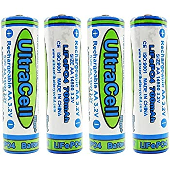 Amazon.com: (4-Pack) HyperPS 3.2V LiFePo4 14430 (14 x 43mm