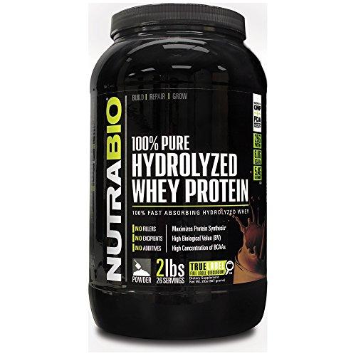 NutraBio 100% Pure Protein lactosérum hydrolysée (deux kilos de chocolat) - Ultra absorption rapide Source de protéines.