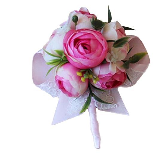 Fantasy Closet Wedding Kunstliche Blumen Hochzeit Rose Boutonniere