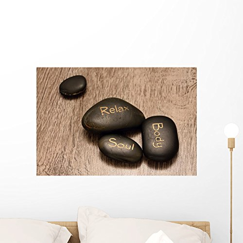 Four Lava Stones Wall Mural by Wallmonkeys Peel and Stick Graphic (24 in W x 16 in H) (16 Lava Stone)