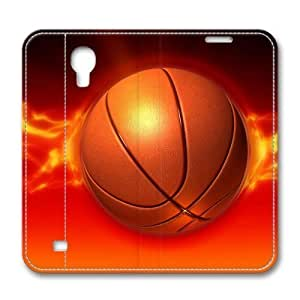 Basketball On Fire Masterpiece Limited Design Leather Cover for Samsung Galaxy S4