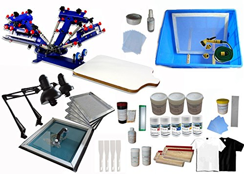 4 Color 1 Station Screen Printing Kit Screen Printing Machine by Screen Printing Kit