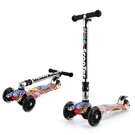 KOBOOW Mini Scooter Patinetes para Niños Niñas de 2-16 Años ...