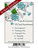 Care & Concern Premium Religious 32 Card Set w/ Scripture and NO repeated cards ~ Includes 4 Encourage, 4 Thinking of You, 4 Praying for You, 8 Sympathy, & 12 Get Well ~ 32 Diff. Designs