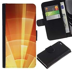 All Phone Most Case / Oferta Especial Cáscara Funda de cuero Monedero Cubierta de proteccion Caso / Wallet Case for Apple Iphone 4 / 4S // parasol estrella naranja soleado de verano
