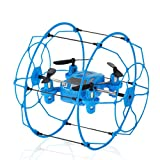 WensLTD Gift For Xmas! FY802 2.4GHz 4CH 6-Axis Mini Hybrid Car-Copter RC Quadcopter Blue