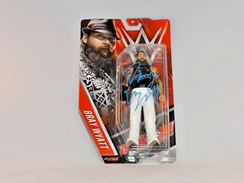 Bray Wyatt Wwe Signed Mattel Action Figure New Face Of Fear Wyatt Family - PSA/DNA Certified - Autographed Wrestling Cards (Signed Action Figures)