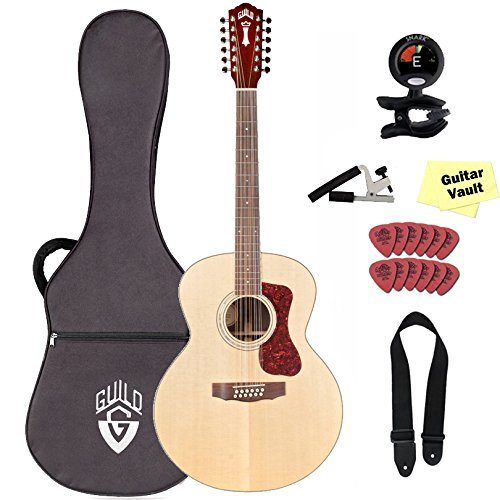 Guild F-1512 Westerly Collection 12-String Acoustic Guitar with Polyfoam Hard Case and Accessory - Strings Guild Guitar