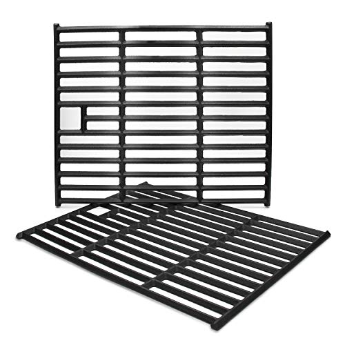Hongso PCD252 Universal Matte Cast Iron Cooking Grid Replacement for Aussie 6703C8FKK1, 6804S8-S11, Brinkmann 810-9490-F, Nexgrill 720-0649 and Other Gas Grill Models, Set of 2