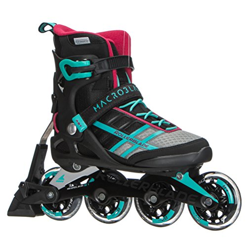 Rollerblade Macroblade 84 ABT Womens Adult Fitness Inline Skate, Emerald Green and Cherry, Performance Inline Skates
