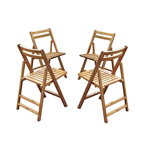 Amazon Folding Acacia Outdoor Dining ChairsSet of 4 – Foldable Dining Chairs