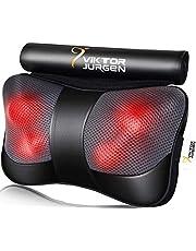VIKTOR JURGEN Back Massager Pillow, Neck Massager with Heat, Shiatsu Kneading Shoulder Back and Neck Massager - Relaxation Gifts for Women/Men/Dad/Mom