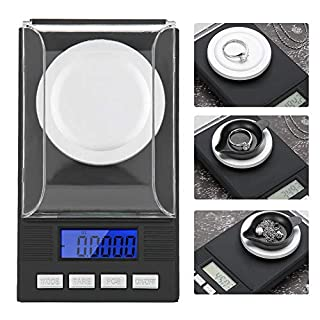 Jewelry Scale, Mini Digital Pocket Jewelry Scale Portable Scale High Precision 0.001g with LED Display(10g)