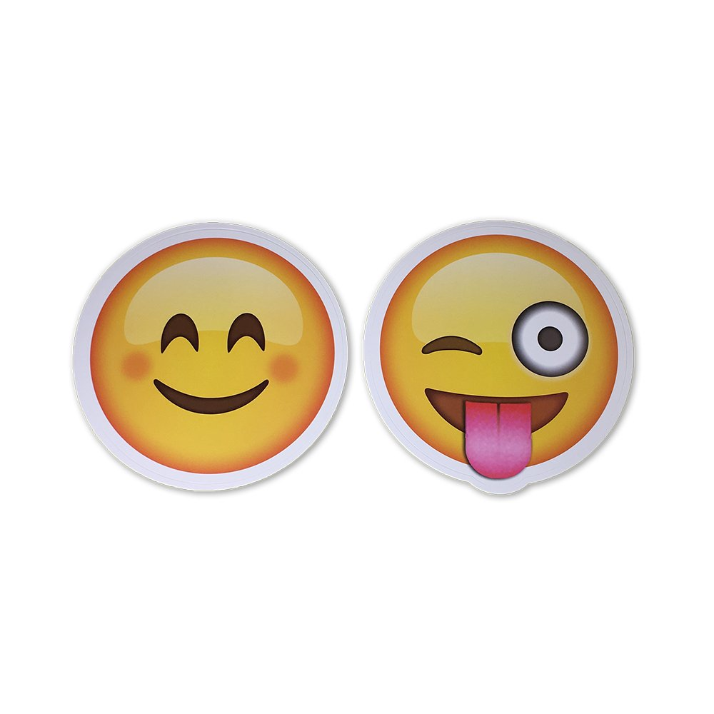 Amazon com large 5 smiling face and tongue out wink emoji stickers