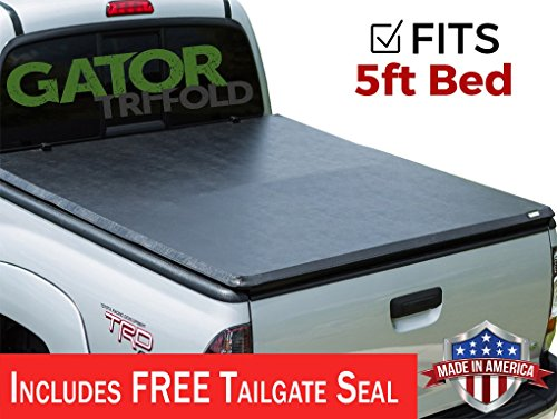 Gator Covers 2005-2017 Nissan Frontier 5FT. Bed GATOR Soft Tri-Fold Tonneau Truck Bed Cover (59501) Made in the USA - Nissan Frontier Soft Tonneau Cover