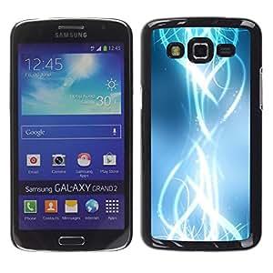 Be Good Phone Accessory // Dura Cáscara cubierta Protectora Caso Carcasa Funda de Protección para Samsung Galaxy Grand 2 SM-G7102 SM-G7105 // Abstract Shiny Bright White Stylish