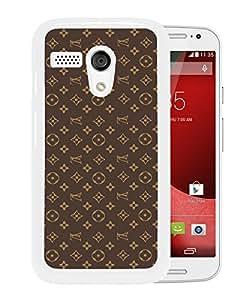 New Unique Custom Designed Case With Louis Vuitton 01 White For Motorola Moto G Phone Case