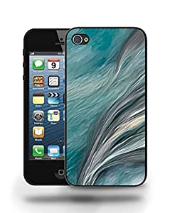 Retro Classic Wavy Paint Watercolor Sketch Art Phone Case Cover Designs for iPhone 4 4S